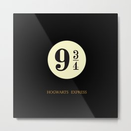 hogwarts express 9 3/4 Metal Print