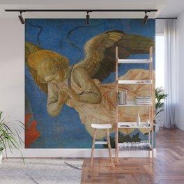 "Francesco Pesellino and Fra Filippo Lippi ""The Pistoia Santa Trinità Altarpiece"" angel 2. Wall Mural"