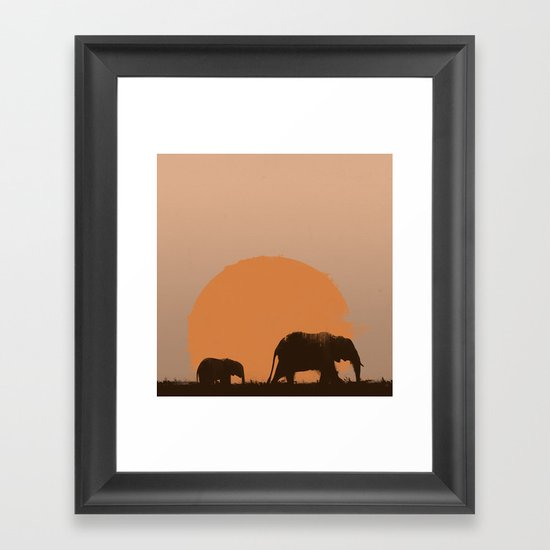 following his footsteps Framed Art Print
