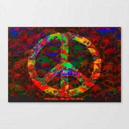 PEACE SKULLS Canvas Print