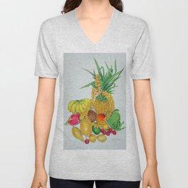 Tropical Fruit with Lei Unisex V-Neck