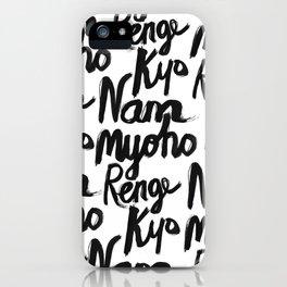 Nam Myoho Renge Kyo iPhone Case