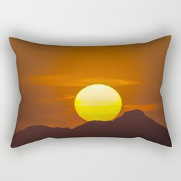 """Desert Sunset 1"" by Murray Bolesta Rectangular Pillow"