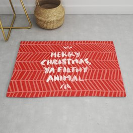 Merry Christmas, Ya Filthy Animal – Red Rug