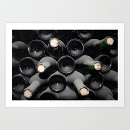 Wine Stack Art Print