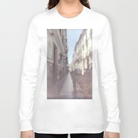 spain Long Sleeve T-shirts featuring Madrid, Spain by Jane Lacey Smith