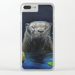 The River Otter by Teresa Thompson Clear iPhone Case