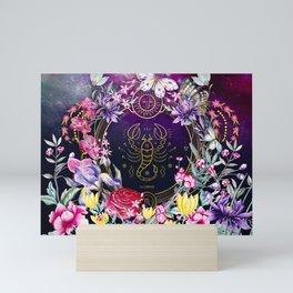 Scorpion Wild Flowers Mini Art Print