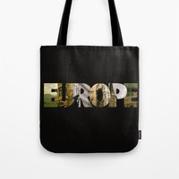 europe Tote Bags featuring Europe by Stokes Whitaker