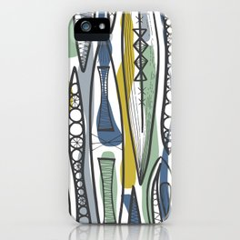 Mid-Century Shapes iPhone Case