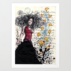 Curley Q Art Print