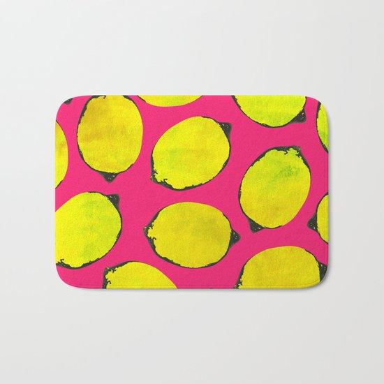 Lemon pattern Bath Mat