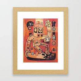 Esclaves des robots... nous serons   Framed Art Print