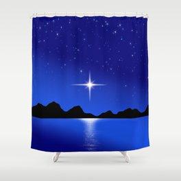 Star Horizon 103 Blue Sky Stars Shower Curtain
