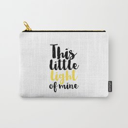 Baby Room Decor Baby Gift Nursery Wall Art This Little Light Of Mine Kids GIft Newborn Printable Art Carry-All Pouch