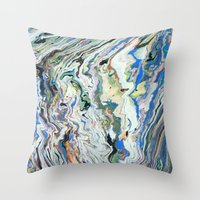 geology Throw Pillows featuring Fluctuating Geology by Christina Stavers