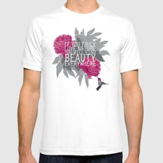Finding Beauty White Mens Fitted Tee SMALL