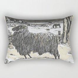 Sheep in a landscape , Richard Roland Holst, 1878 Rectangular Pillow