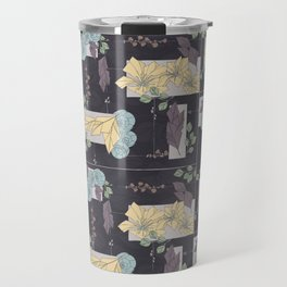 Flower Fracas Puple Travel Mug