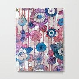 Hanging Flower Garland Metal Print