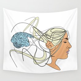 Brain Seperation Wall Tapestry