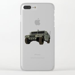HUMVEE Army Military Truck Clear iPhone Case