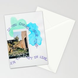 the first in line Stationery Cards