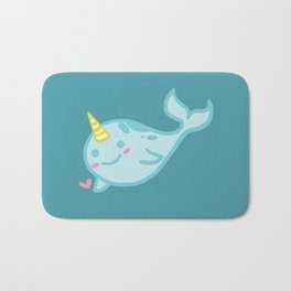 Nelly the Narwhal! Bath Mat