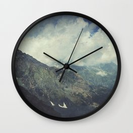 Valley and Mountains - Lombardia Italy Wall Clock
