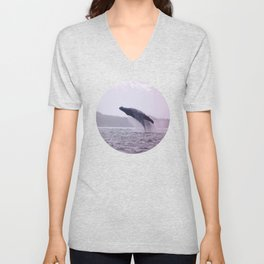 Breaching Humpback Unisex V-Neck