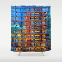 buildings Shower Curtains featuring Buildings in Buildings by davehare
