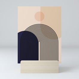 Abstraction_NEW_SUN_SHAPE_MOUNTAINS_LINE_POP_ART_M0202A Mini Art Print