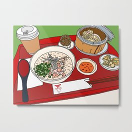 Happy Dim Sum Platter Metal Print