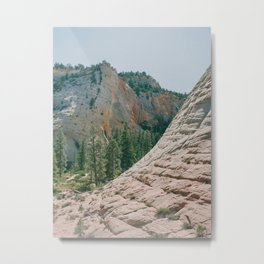 Checkerboard Mesa at Zion National Park / Fine Art Film Travel Photography Metal Print