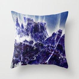 Blue Material Throw Pillow