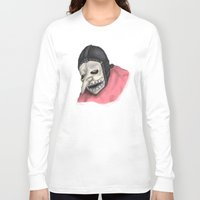 number Long Sleeve T-shirts featuring Number Three by Ludwig Van Bacon