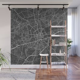 Essen Map, Germany - Gray Wall Mural
