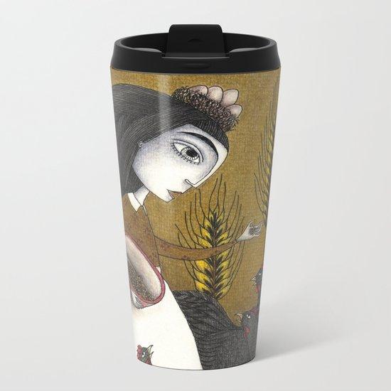 Ira's Hens Metal Travel Mug
