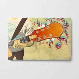 Colorful Guitar Piece Metal Print