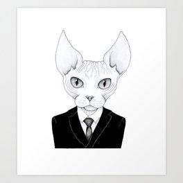 Cool Sphynx Art Print