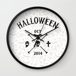 Light Halloween Background Wall Clock