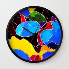 Color Circus Abstract Wall Clock