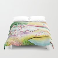 fairy tale Duvet Covers featuring Fairy Tale by Julie Edwards