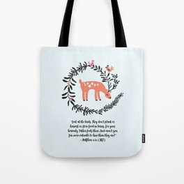 Deer & Birds Tote Bag