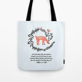 Deer & Birds Tote Bag