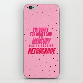 Mercury Retrograde pt. 2 iPhone Skin