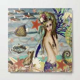 Katie the Mermaid Metal Print