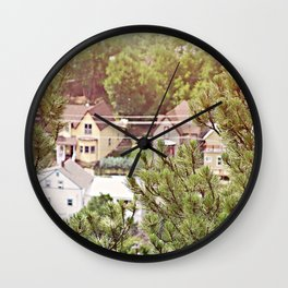 deadwood south dakota Wall Clock