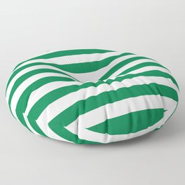 Nigeria Pakistan flag stripes Floor Pillow