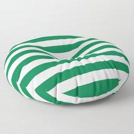 Nigeria Pakistan flag stripes Floor Pillow